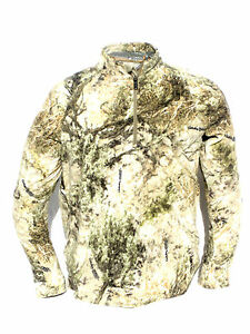 Cabela's Mens Microfleece 1/4 Zip ZONZ Western Woodlands Hunting Pullover Jacket