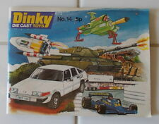 Dinky Toys Katalog No.14 1978 - Catalogue Eng edition 42 pages 11,5cm/15cm