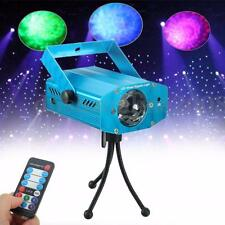Auto/Sound Activated LED Water Ripples Projector Stage Light Disco Party Remote