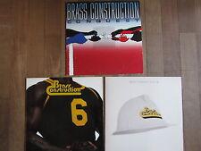 """3 LP´s BRASS CONSTRUCTION  Sammlung """"TOPZUSTAND!"""""""