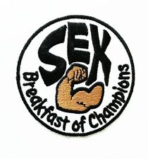 SEX Breakfast of Champions F1 James Hunt Racing Iron On Embroidered Patch 7.5cm