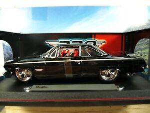 """PRO RODZ"" 1/18 '62 Chevrolet BEL AIR Tuxedo Black/Red Int. Deep Dish Whls Nitro"