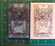 UM Tarot Card rubber stamp #6 The Lovers full size