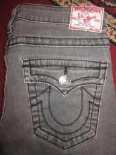 TRUE RELIGION Billy Big T GRAY Flap Pocket Straight Leg Jeans...size 30x33