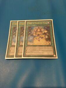 3x Ultra Rare Spellbook Of Fate ABYR-IT059 ITALIAN