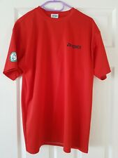 Yonex All England 2011 Badminton Top Shirt red large Mens Sports