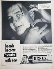 Vintage Williams Molle Benex Shaving Cream Ads Various