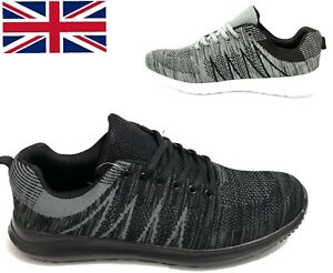 Trainers Lace Up Running Casual Sports Mens Shoes Lightweight Memory Foam UK
