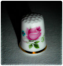 BN Vintage Shabby Chic Rose Thimble Personalised with Plastic Display Case
