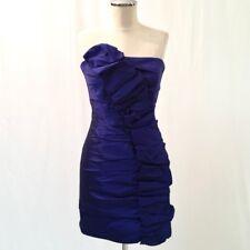 Jessica McClintock Blue Ruffle Cocktail Dress 4