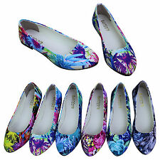 Women's Ladies Casual  Ballet Loafers Floral Print Metal Pointed Toe Flats Shoes