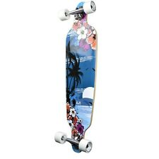 Yocaher Punked Drop Through Tropical Night Longboard Complete
