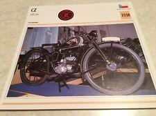 Fiche moto collection Atlas Motorcycle CZ 100 cm3 1938