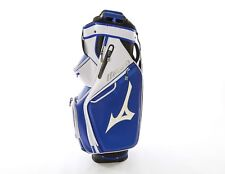 "Mizuno Pro Cart Golf Bag 10"" 14-Way Top 8 Pocket White Blue Black MSRP $280"