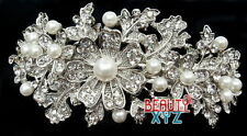 New Bridal Headpiece with Imitation Pearl and Rhinestone hair barrette hair clip