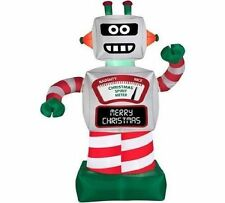 6' Animated Robot Christmas Airblown Inflatable Outdoor Christmas Decoration