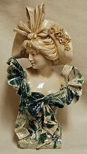 Antique RARE ROYAL DUX Porcelain Czech Art Nouveau Signed Lady Woman Bust