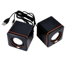 USB Wired Mini Portable Audio Music Player Speakers for Desktop Laptop Computer