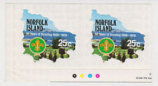 (T10-100)1978Norfolk Island 4set boy scouts joined pair