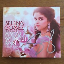 Selena Gomez & The Scene - A Year Without Rain Deluxe Signed Cd  autographed