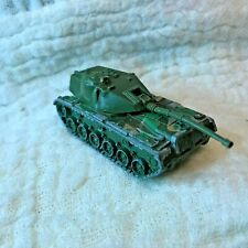 1974 Hot Wheels Green Camouflage Military Tank army malaysia base diecast tan !