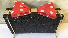 Kate Spade New York Disney Minnie Mouse Bow Clasp Crossbody Bag Clutch NWT $328