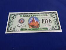 Disney Dollars Five $5 Big Thunder Mountain Railroad Bill 2014 D047062