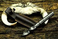 USA (PB-4-AD) DAMASCUS STEEL CUSTOM MADE KRIS BLADE BOAR HUNTING KNIFE