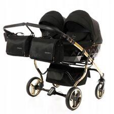 Exclusive Twin Pram Junama Diamond S Duo Gold Black Double Buggy Baby Twins