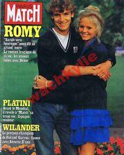 Paris Match n°1725 du 18/06/1982 Platini Mondial Mats Wilander Romy Schneider