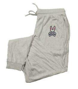 Psycho Bunny Men's Heather Gray Lounge Jogger Pants