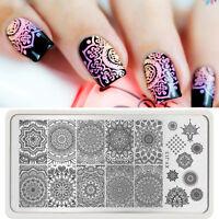Nail Art Stamp Stamping Plate Roses Design Image Stamper Scraper Kit Makeup DIY