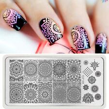 Nail Art Stamp Stamping Plate Image Stamper Scraper Kit