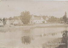 Original Albumen Photograph Of Church And River - Hennebont, Brittany