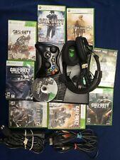 Xbox 360 Slim 250gb Black with 9 Call of Duty Games Turtle Beach Headset HDMI