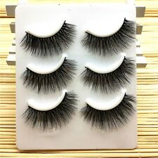 3Pairs Thick Handmade Messy Cross Long 3D False Eyelashes Eye Lashes Extension