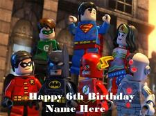 Lego Superheroes edible icing cake toppers. Personalise for your occasion!