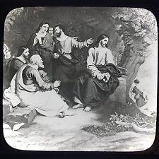 Antique Magic Lantern Glass Slide Photo Jesus Christ Weeping Over Jerusalem