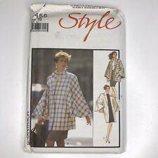 Vintage 80s Style Sewing Pattern 1455 Size 16 Womens Oversized Coat Jacket Cape