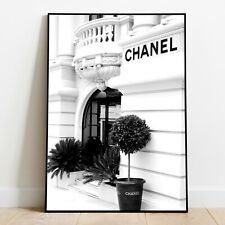 More details for chanel store - paris - a4 a3 a2 a1 a0 - poster - print - black & white - fashion