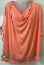 AUTOGRAPH Pink Coral, Cowl Neck Poncho  -18- NWT