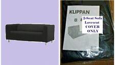 IKEA Klippan Granan Black Loveseat NEW Sofa Cover 2 Seat Washable Canvas RETIRED