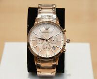BRAND NEW EMPORIO ARMANI MEN'S WATCH AR2452 GOLD CHRONOGRAPH RRP £399