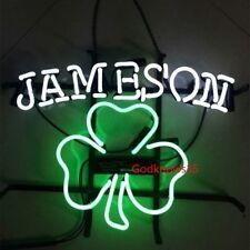 """17X14"""" Vintage JAMESON REAL GLASS  BEER BAR PUB NEON LIGHT DISPLAY SIGN"""