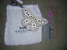 NWT COACH LARGE BUTTERFLY  KEY FOB / KEY CHAIN