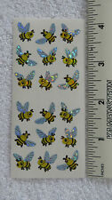 Sandylion MINI BEES WITH PRISMATIC WINGS Strip of 2 Sqs Stickers RARE RETIRED
