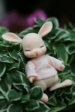 BJD 1//12 Doll Mocka Cat Without Make Up White Resin Two Head One Body