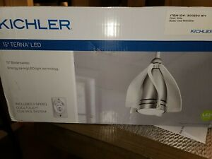 Kichler Lighting 300230WH Terna 15 Inch Ceiling Fan with Light Kit White Silver