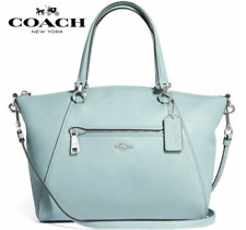 New Authentic Coach F79997 Prairie  Satchel Crossbody Bag in Pebble Leather Sage