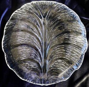 Orrefors Eden Crystal 31 cm Round Platter Lars Hellsten Design